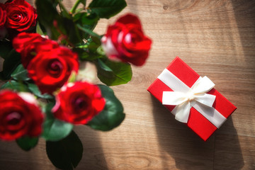 Valentine's Day Background - Rose, Gift