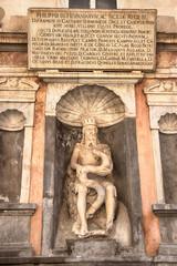 Aluminium Prints Historic monument Il genio di Palermo