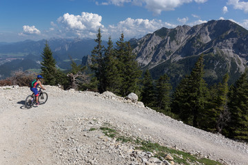 Mountainbikabfahrt am Breitenberg bei Pfronten