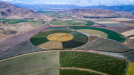circle crop fields seen from above