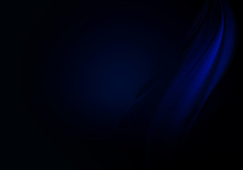 Abstract background waves. Black and blue abstract background with space for your text