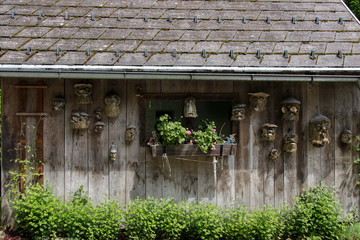 A wooden house decorated with gnome, Styria - Austria