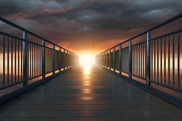 Brücke ins Licht Fototapete