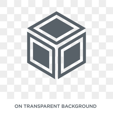 Side to side of a cube icon. Side to side of a cube design concept from Geometry collection. Simple element vector illustration on transparent background.