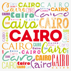 Cairo wallpaper word cloud, travel concept background
