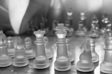glass chess monochrome photo