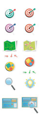 set of colored flat icons