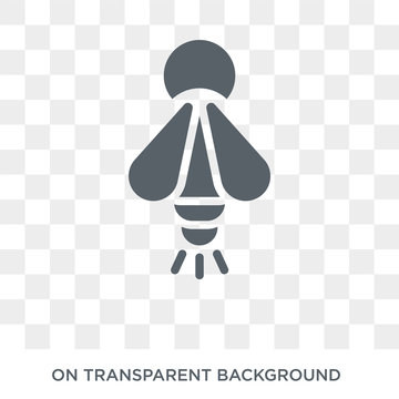 Firefly icon. Trendy flat vector Firefly icon on transparent background from animals  collection. High quality filled Firefly symbol use for web and mobile