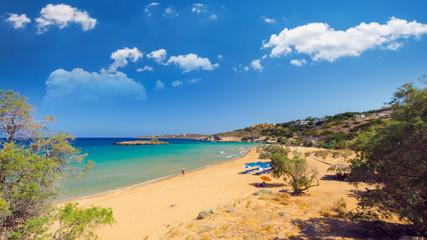 Kalathas beach, Crete Island, Greece. Kalatha is one of the best beaches in Creta