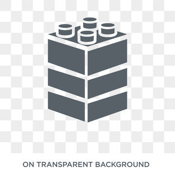 Lego icon. Lego design concept from Entertainment collection. Simple element vector illustration on transparent background.