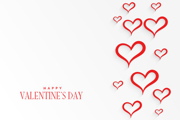 white background with red hearts pattern background