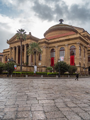 The Teatro Massimo Vittorio Emanuele is an opera house and opera company located on the Piazza Verdi in Palermo, Sicily. It is the biggest in Italy, and one of the largest of Europe.