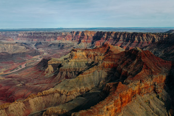 Beautiful aerial View of the Grand Canyon