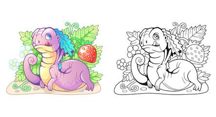 cartoon cute little berry dragon funny illustration