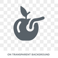 Worm icon. Worm design concept from Agriculture, Farming and Gardening collection. Simple element vector illustration on transparent background.