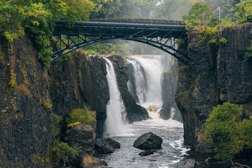 Foto auf AluDibond Vereinigte Staaten The Great Falls of the Passaic River in Paterson, New Jersey