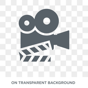 Film icon. Trendy flat vector Film icon on transparent background from Cinema collection. High quality filled Film symbol use for web and mobile