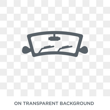 car windscreen icon. car windscreen design concept from Car parts collection. Simple element vector illustration on transparent background.