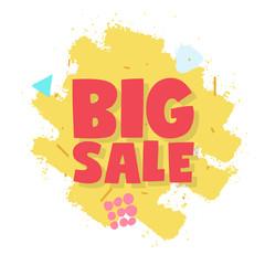Sale! Big sale! Vector illustration.