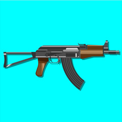 Kalashnikov assault rifles Automatic AK 47 U vector weapon