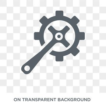 car crank icon. car crank design concept from Car parts collection. Simple element vector illustration on transparent background.