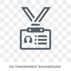 Id card icon. Trendy flat vector Id card icon on transparent background from Business and analytics collection. High quality filled Id card symbol use for web and mobile