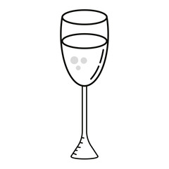 champagne glass cartoon
