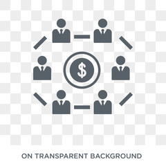 Mutual fund icon. Trendy flat vector Mutual fund icon on transparent background from Business  collection. High quality filled Mutual fund symbol use for web and mobile