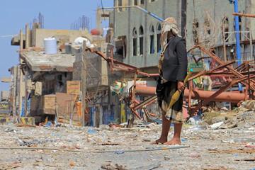 """""""Taiz / Yemen - Jan 13 2019: A soldier fighting in the battles of southern Yemen"""""""