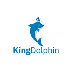 King dolphin with crown logo design inspiration