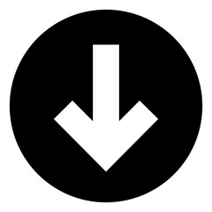 Down Arrow Button Vector Icon