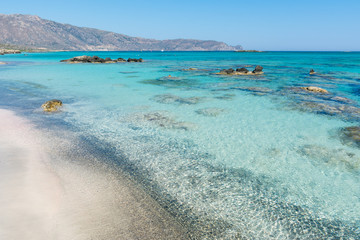 Elafonisi beach in Crete
