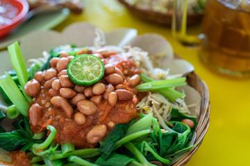 indonesian plecing kangkung dish