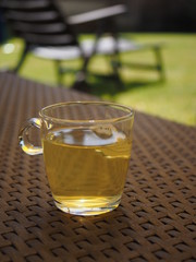 Glas mit Tee