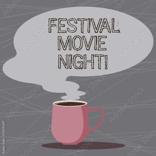Word writing text Festival Movie Night  Business concept for