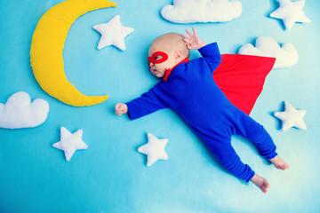 superhero in sky