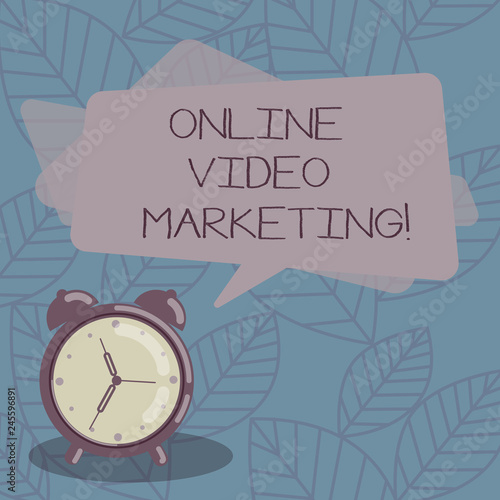 Writing note showing Online Video Marketing  Business photo