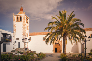 Historic cathedral of Santa Maria of Betancuria on Fuerteventura Islan, Canary Islands, Spain