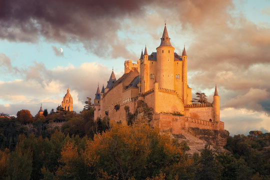 Alcazar of Segovia is a medieval stone fortification, located in the city of Segovia, in the community of Castilla Leon, Spain.