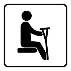 gz297 GrafikZeichnung - travel: ntps2 NewTransportPassengerSign ntps - german - Sitzplätze - Prioritätsplätze für behinderte Menschen - Piktogramm - english: priority seats for disabled people - g7124