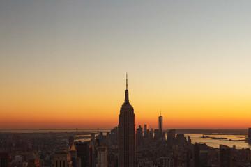 Beautiful sunset at new york city, USA