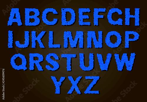 Set of colorful letters. color vector latin alphabet. rainbow font