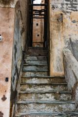 Picturesque, narrow streets of the old city of Bonifacio, Corsica