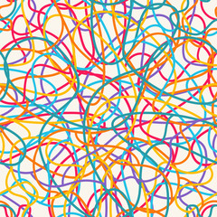 Colorful scribble pattern.
