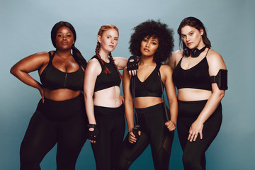 Diverse group of women in sportswear