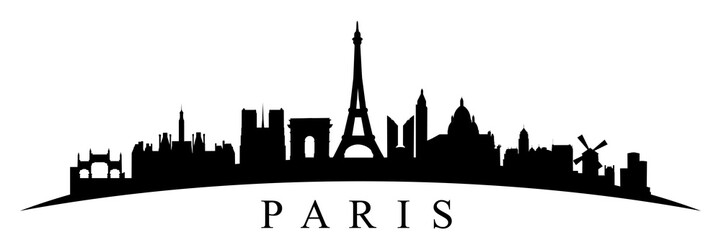 Paris silhouette - stock vector