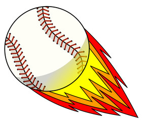 baseball ball character mascot cartoon explosive hit vector isolated