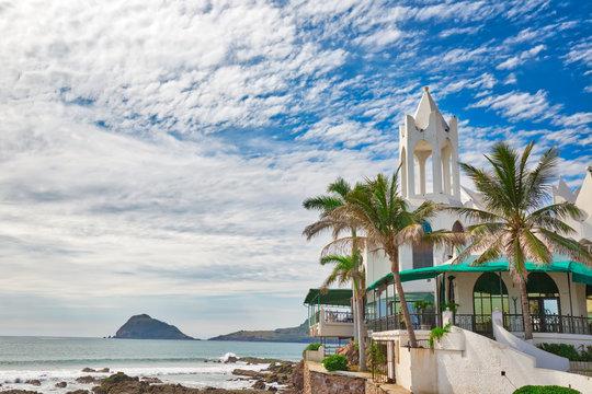 Mazatlan Golden Zone (Zona Dorada), famous touristic beach resort zone