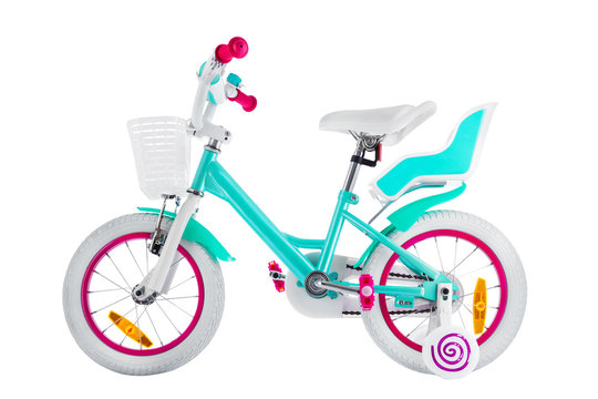 Bicycle for kids with clipping path isolated on white background