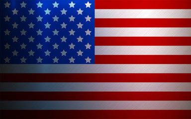 USA Flag Metallic Textured National Background